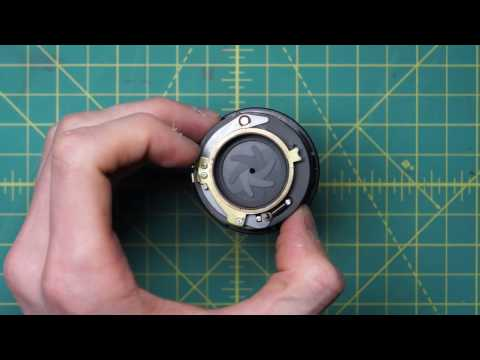 Minolta MC Rokkor-PF 55mm f1.7 (MCII) Lens Disassembly and Diaphragm Cleaning