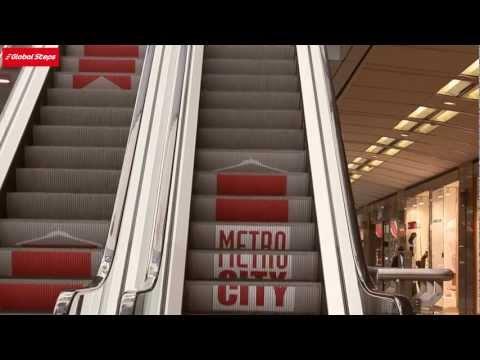 Global Steps Escalator Advertising - Global Steps Yürüyen Merdiven Reklamı