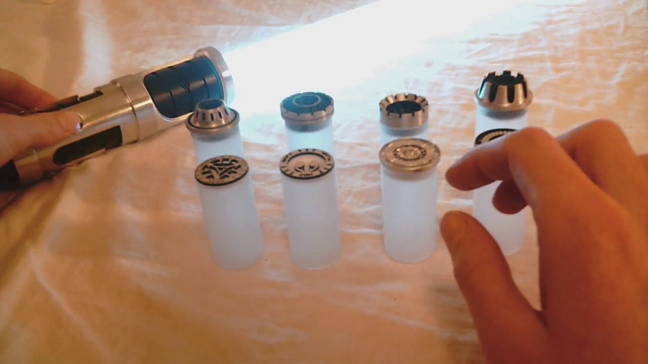 saberforge lightsaber blade plugs review youtube