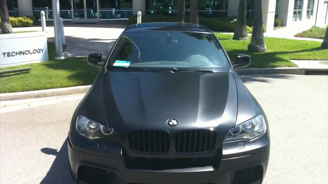 2011 Bmw X6 M Wrapped In Matte Flat Black By Dbx Youtube