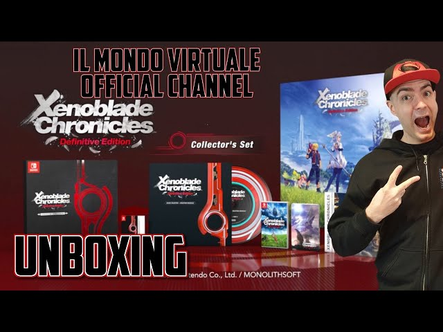 UNBOXING XENOBLADE CHRONICLES DEFINITIVE EDITION COLLECTOR'S SET - ITA - NINTENDO SWITCH
