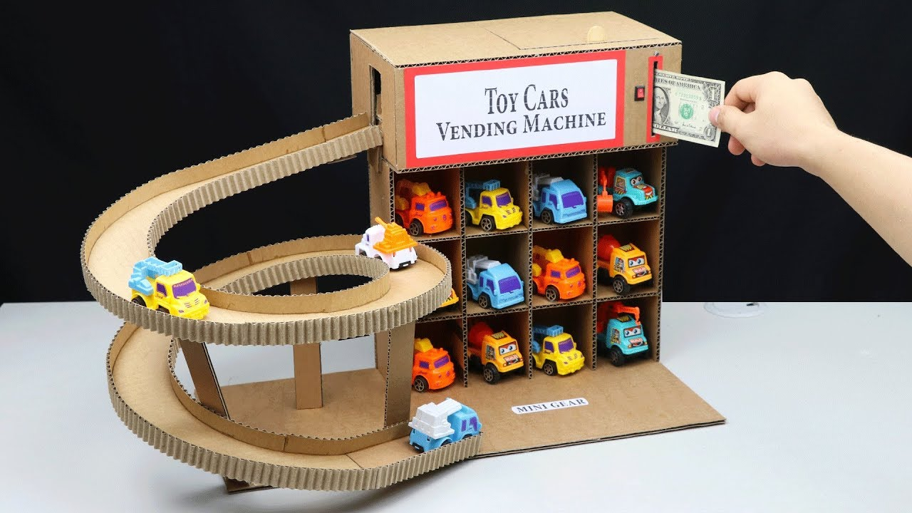 Download How to Make Cars Vending Machine from Cardboard