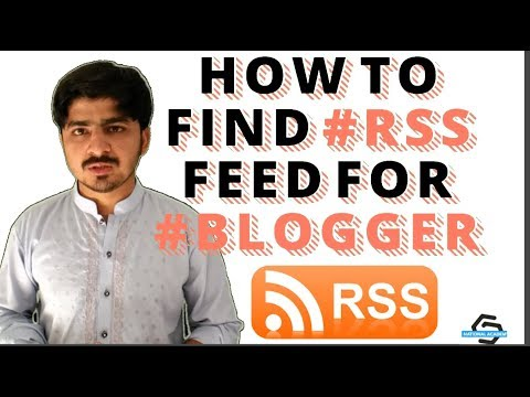How To Find RSS Feed URL In Blogger Website (HINDI)