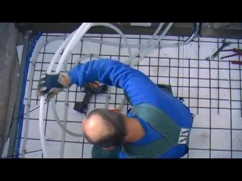 Fremragende Badeværelse 3 - Etablering af gulvvarme - YouTube ZL05