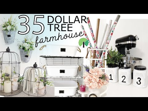 35 Farmhouse Dollar Tree DIYs | Pretty Farmhouse DIYS | EASY Dollar Tree DIYs