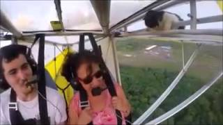 watch cat stows away on hang glider