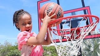 Cali's First Slam Dunk!! FamousTubeKIDS