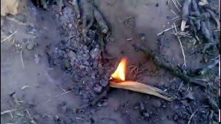 Primitive Technology - the first fire in BAKE !!! #1