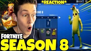 "SEASON 8'S BATTLE PASS is PAZZESCO! 🤩🤩 FORTNITE ITA ""REACTION"""