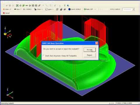 SURFCAM Tutorial - 3-Axis: Check Surfaces