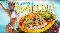 Sommersalat 🍋💖 in einer Papaya ☀ Fitness Rezept | zum Grillen & low carb  | Sunnys Secret Rezept