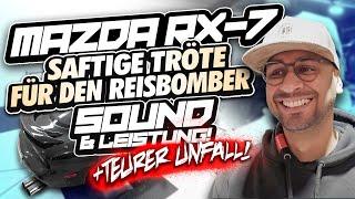 JP Performance - Saftige Tröte für den Reisbomber + Unfall | Mazda RX7 Abgasanlage & Downpipe