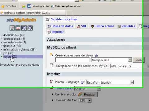 Bases De Datos MySQL Y Joomla. PhpMyAdmin