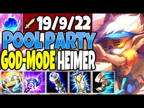 Pool Party GOD-MODE HEIMERDINGER New Skin 🔥 Best Heimerdinger Season 10 Build 🔥 LoL Heimer Gameplay