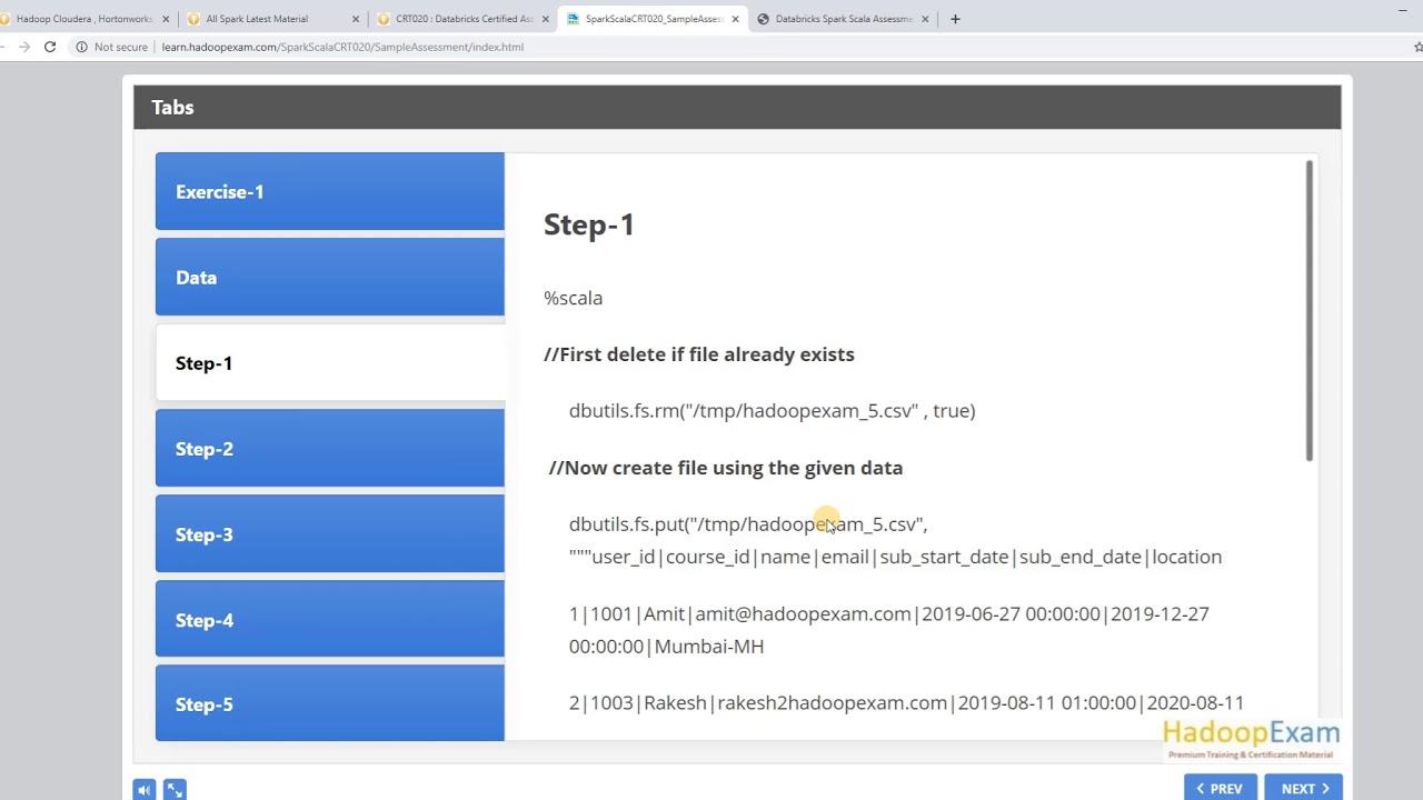 CRT020 Databricks Spark Scala Certification Preparation