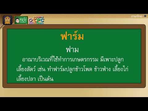 เรียนรู้คำศัพท์เรื่อง ไวรัสวายร้าย - ภาษาไทย ป.4