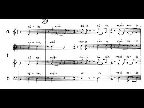 Krzysztof Penderecki  - Cheruwimskaja Pieśń 'Song of Cherubim' for Choir (1986) [Score-Video]