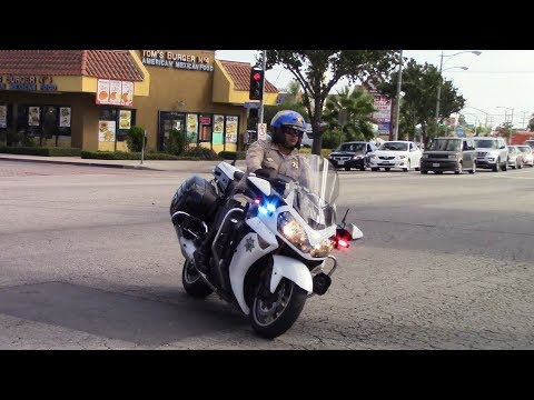 CHP Motorcycle Responding