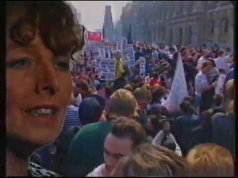 C4 Critical Eye Battle of Trafalgar - Poll Tax demonstration 1990