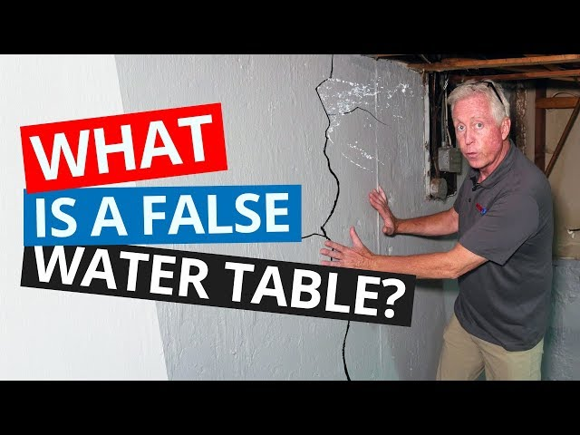 Basement Waterproofing 101 | What is a False Water Table?