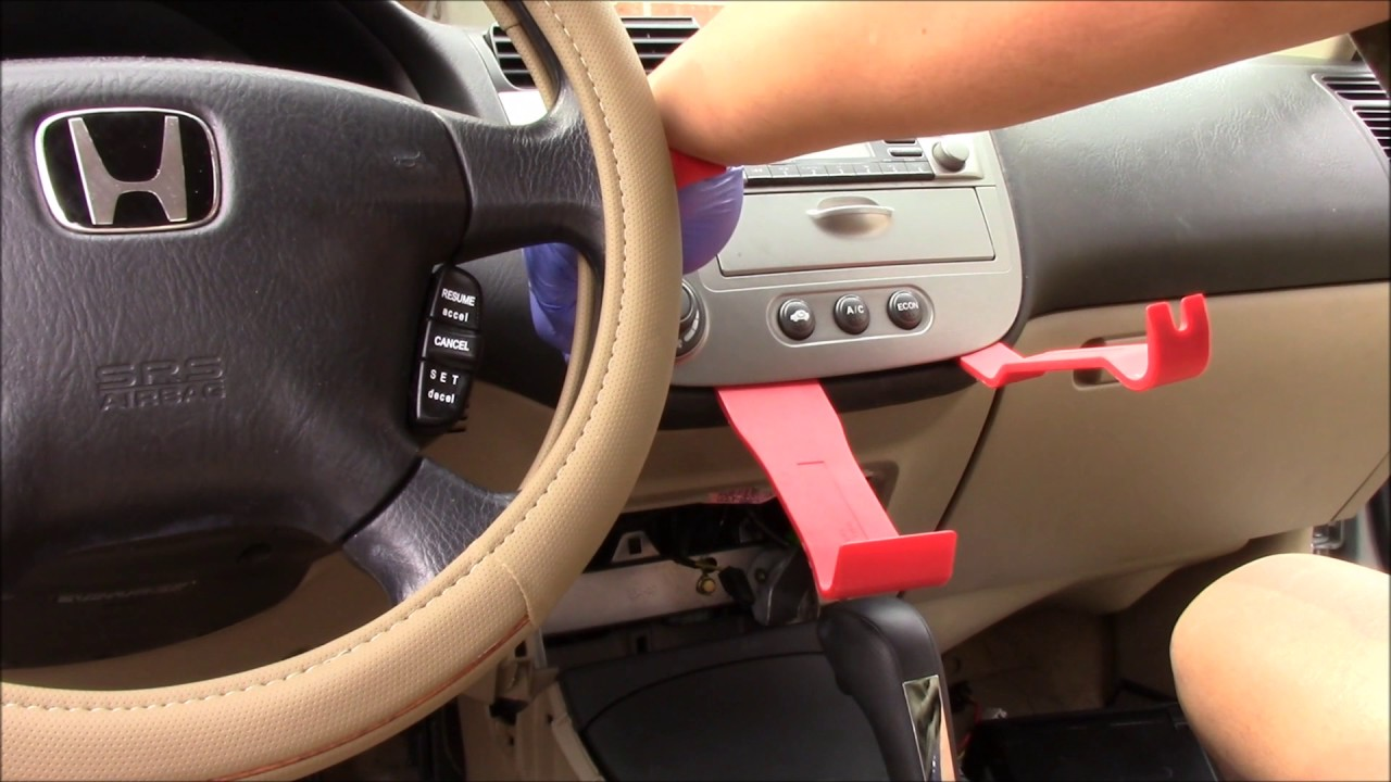 2003 Honda Civic Hybrid Radio Install Youtube