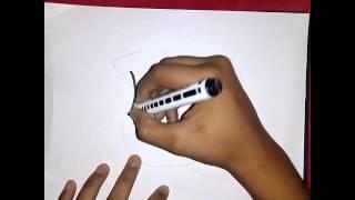 Como Dibujar La Letra U En Graffitis (Facil De Hacer)