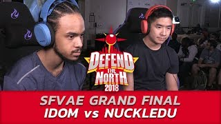 SFVAE GRAND FINAL ▷ Nuckledu (Guile) vs Idom (Laura) ▷ Defend the North 2018