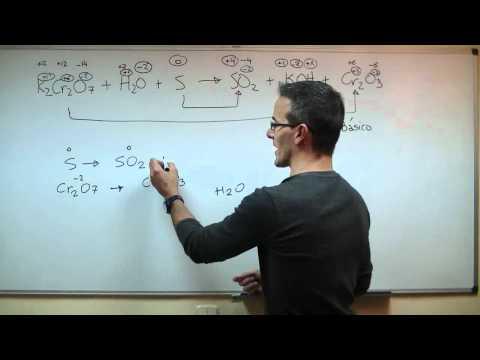 Ajustar una reacción QUIMICA en medio basico REDOX Ion-electron BACHILLERATO