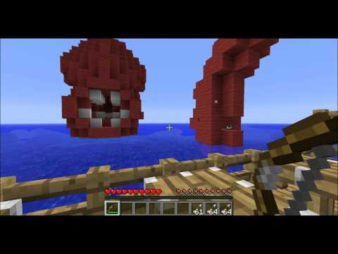 Minecraft Kraken Boss Battle!