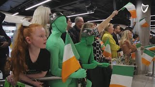 Emotional scenes as Irish soldiers reunited with loved ones at Dublin airport