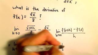 Limit Definition of Derivative, Square Root Example