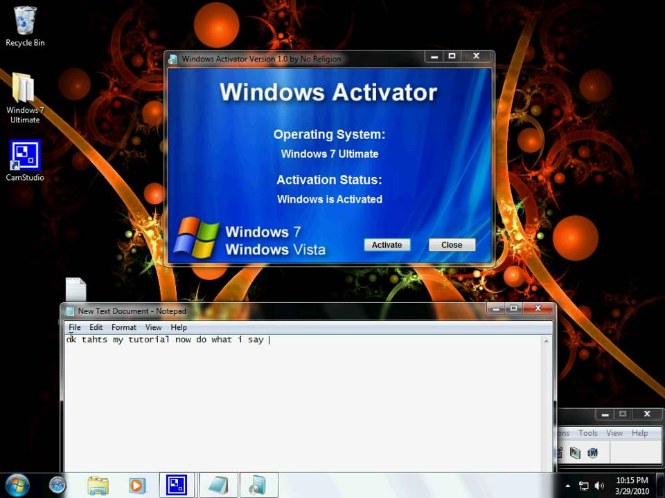 Windows vista activator 100 working