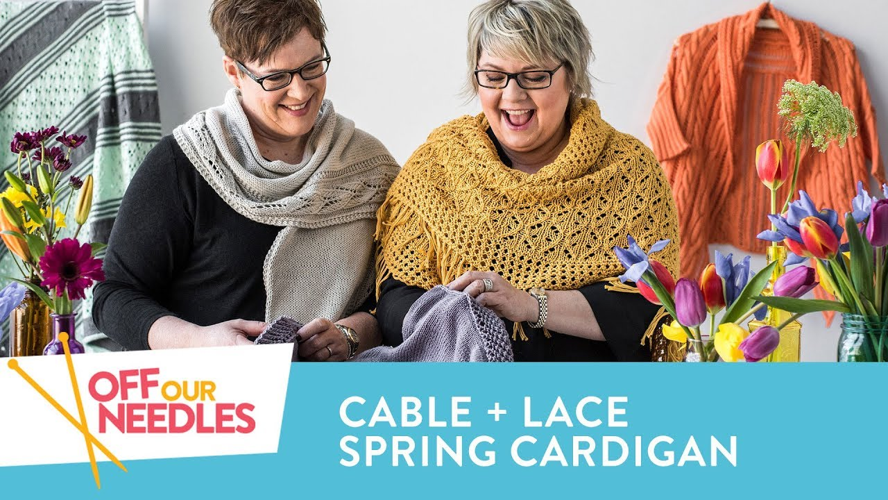 Spring Cotton, Lace + Cable Cardigan Love   Off Our Needles Cotton ...