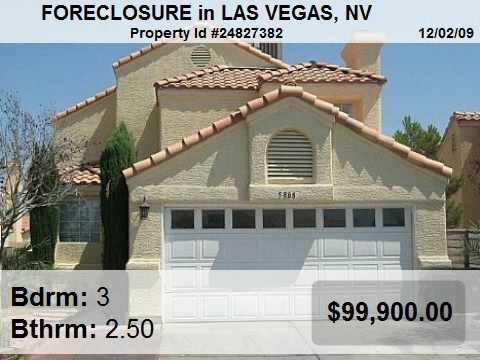 Las Vegas Foreclosed Homes - Sale, Auction and Resale
