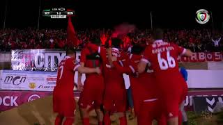 Golo de Raúl Jiménez (g.p.): Setúbal 1-(2) Benfica (Liga 29ªJ)