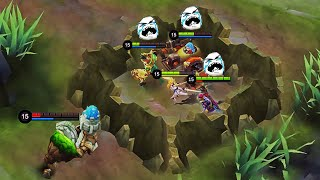 GROCK .... BEST GLOBAL TROLL - Mobile Legends Funny Fails and WTF Moments!