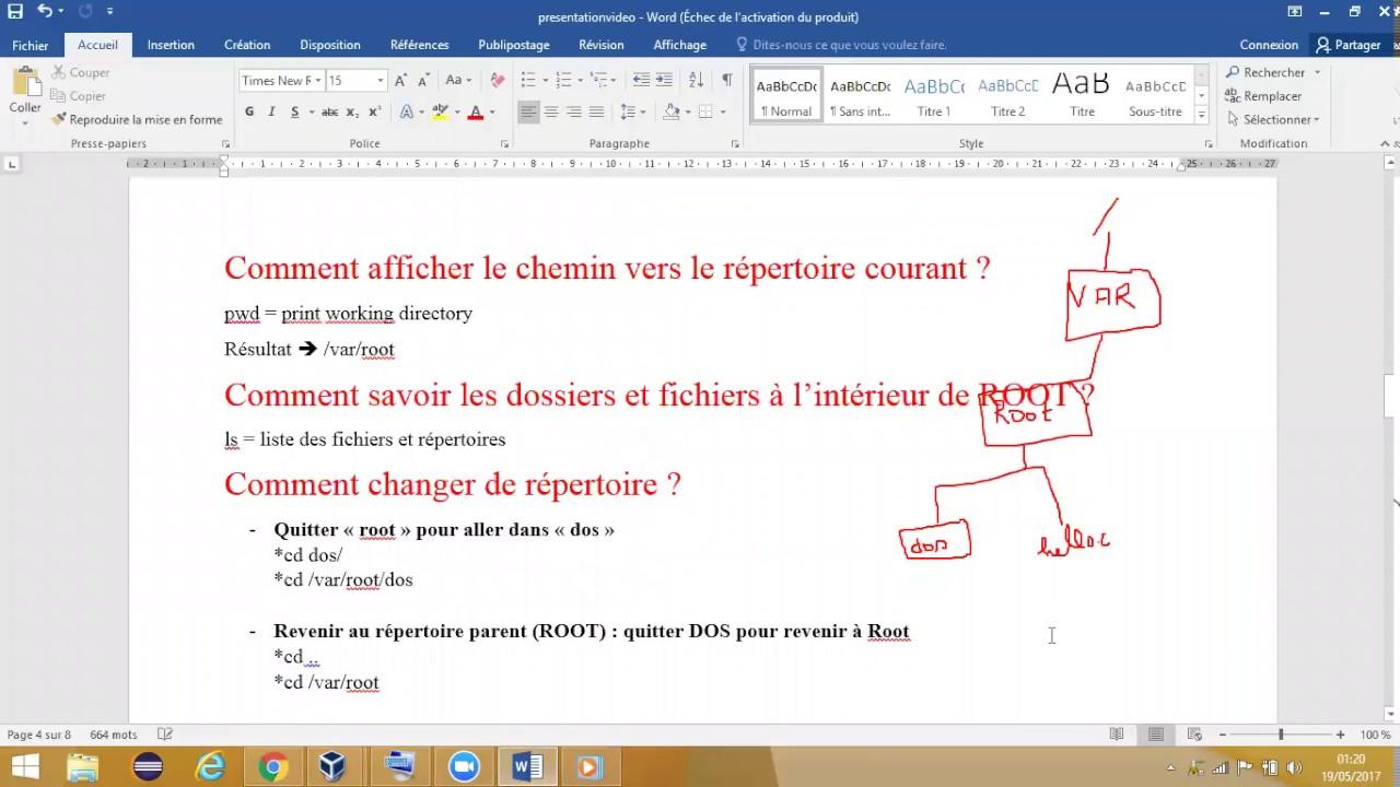 Linux Debutant Se Deplacer D Un Repertoire A Un Autre Et Commande