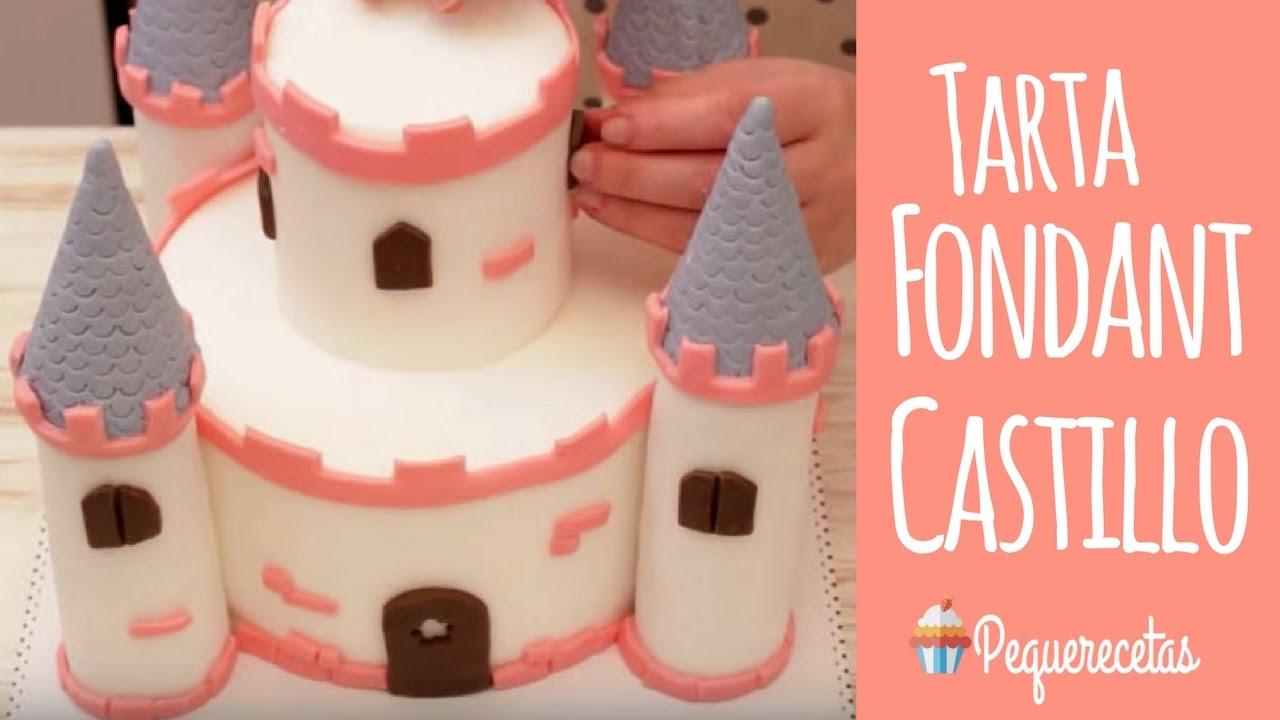 Tarta fondant de castillo - YouTube