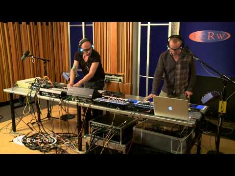 "Orbital performing ""Chimes""  on KCRW"