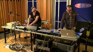 "Orbital performing ""Chimes"" live on KCRW"