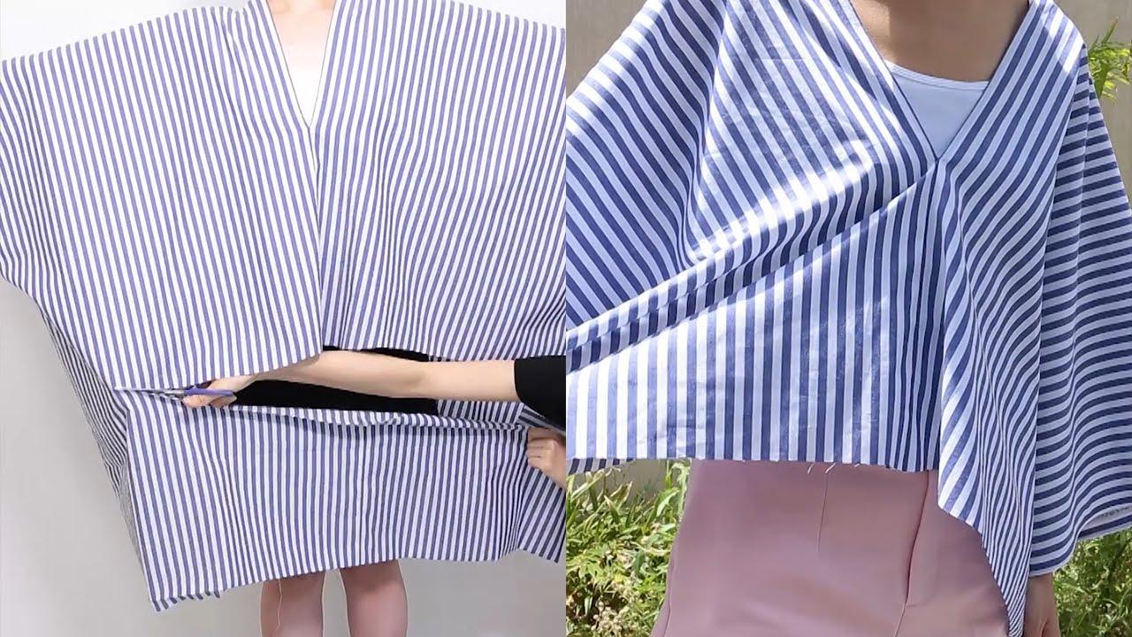 d7407e9213d3d 話題の「直線裁ち」トップス☆型紙いらず切って縫うだけ|C CHANNEL DIY - YouTube