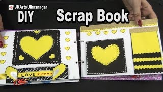 How to make a Scrapbook | 12 Greeting cards Scrapbook | Valentine's Day Gift Idea | JK Arts 984