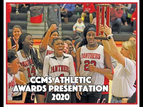 Clinch County Middle School Girls Basketball awards presentation, 2020