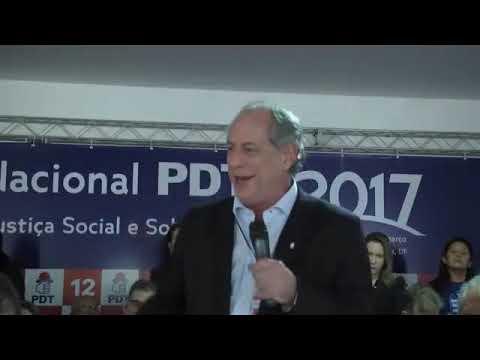 Discurso de Ciro Gomes na Convenção Nacional do PDT (18/03/2017)