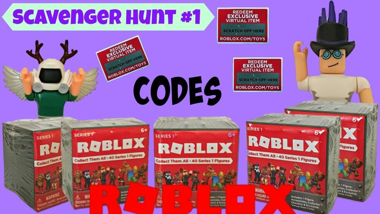 Roblox Codes Scavenger Hunt #1 / Unboxing Surprise Blind ...
