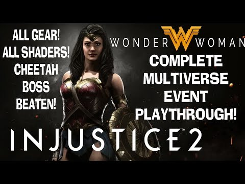 Injustice 2 Wonder Woman Movie Event FULL Playthrough!