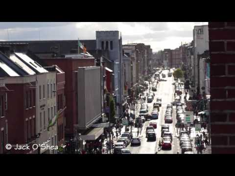 The buzzing O'Connell Street of Limerick City