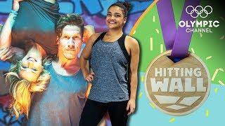 Cheerleaders vs Gymnasts - Laurie Hernandez' Workout challenge | Hitting the Wall