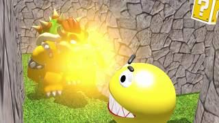 Pacman vs Bowser Super Mario 3D