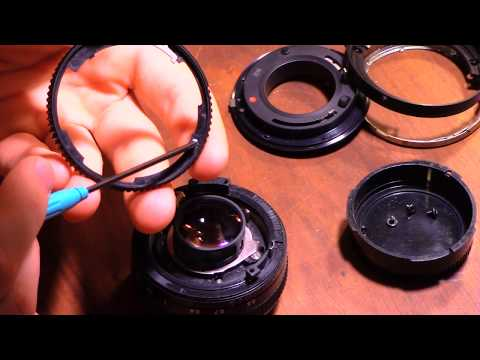 Operating on (and fixing) Canon FD lenses - 50mm f/1.8